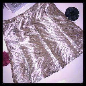 Brooklyn Industries metallic brocade mini skirt